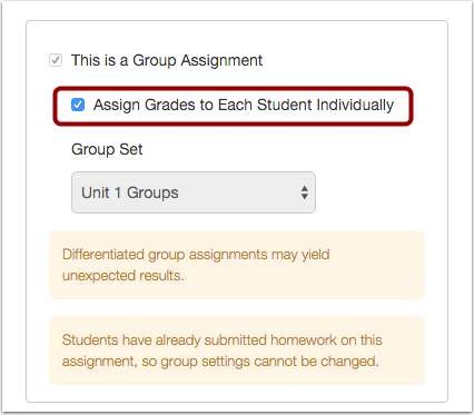 Assign Grades Individually