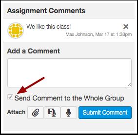 Send Group Feedback