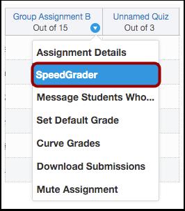 Open SpeedGrader
