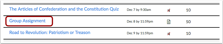 View Assignment Details