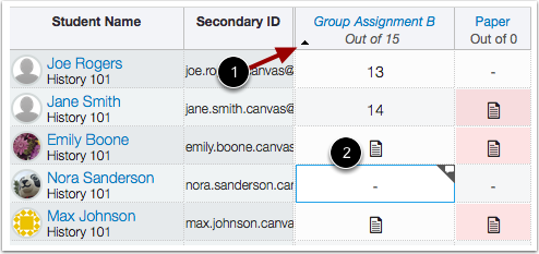 Sort by Individual Assignment