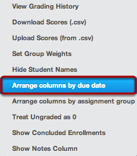 Arrange Columns by Due Date