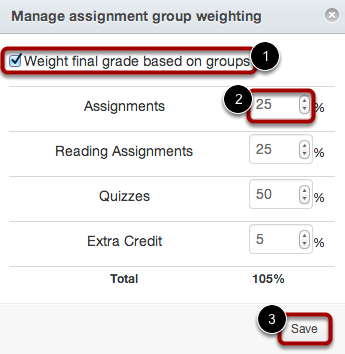 Manage Group Weights