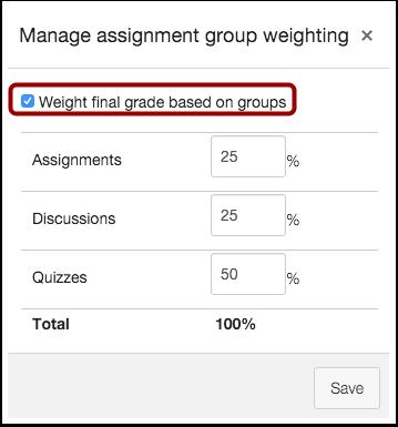 Weight Final Grade