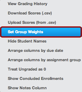 Set Group Weights
