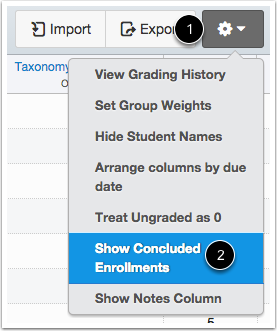 Open Gradebook Settings