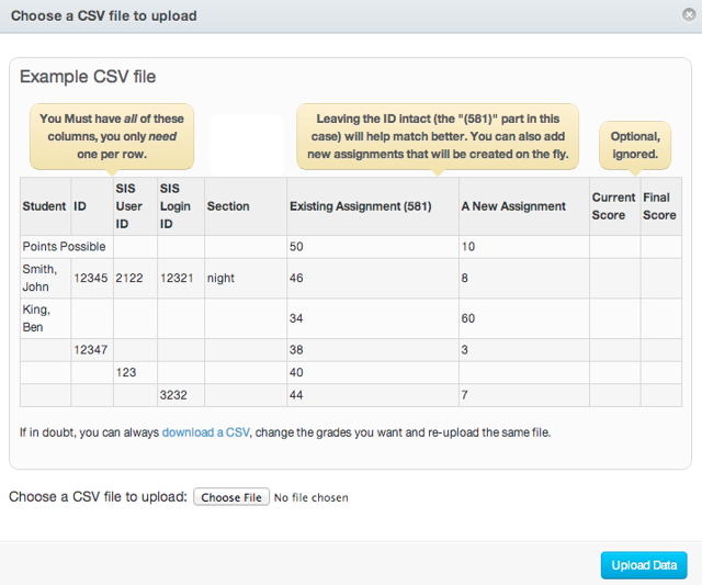 View Example CSV File