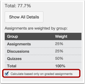Calculate Based on Graded Assignments