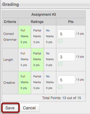 Evaluate the Assignment
