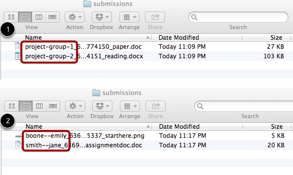 View Submission Files
