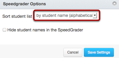 Set SpeedGrader™ Options