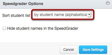 Set SpeedGrader™ Options