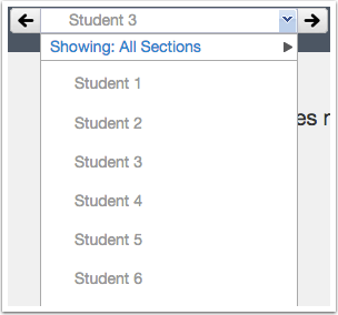 View Student Submission Drop-down Menu