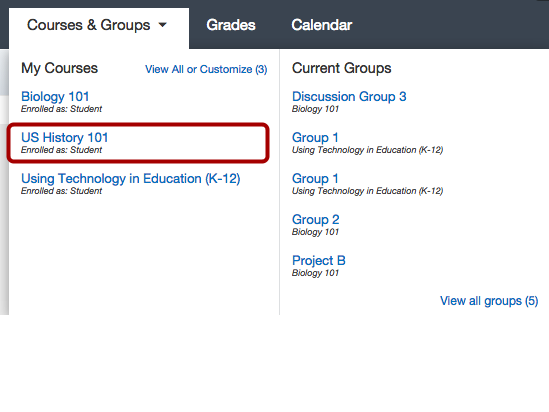 Open Grades in Course Navigation