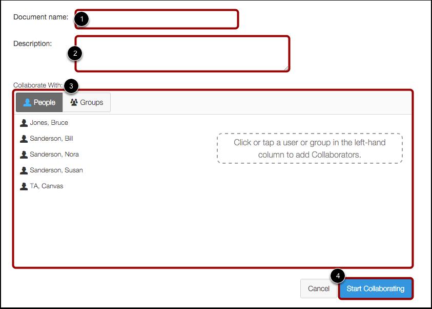 Create Collaboration Document