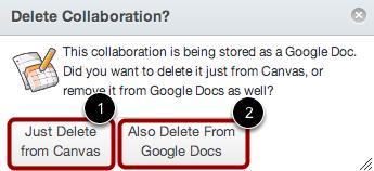 Delete Collaboration