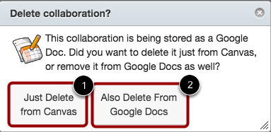 Delete Collaboration