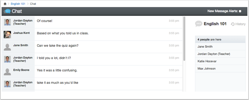 View Course Chat