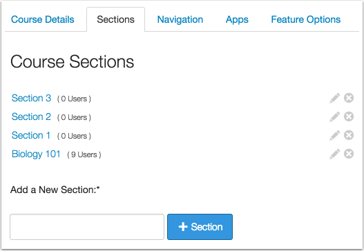Section Options