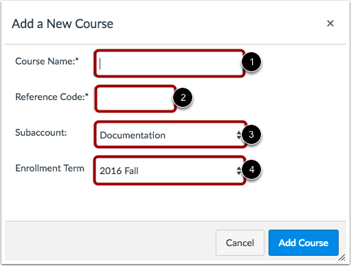 Add New Course Details
