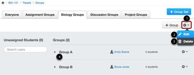 Modify Group Set