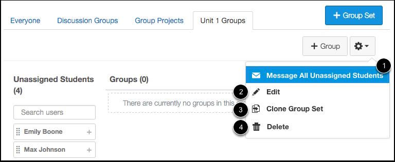 Manage Group Set
