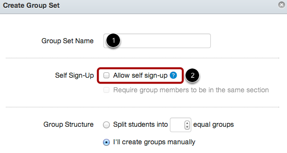 Add Self Sign-up Group