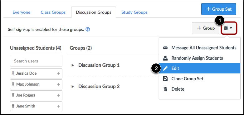 Edit Group