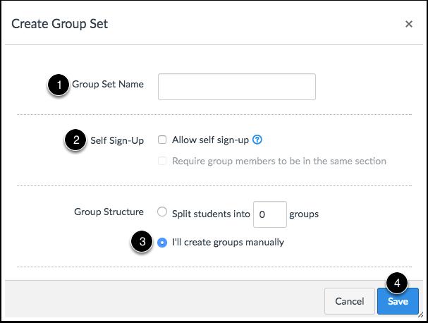 Create Groups Manually