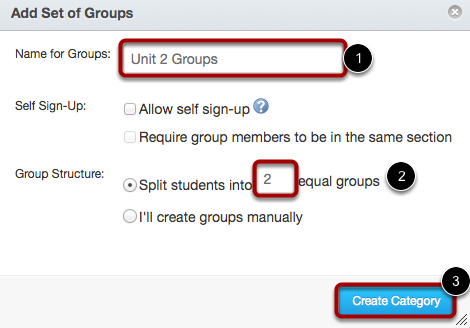 Create Sub-groups