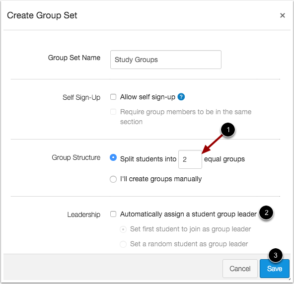 Create Group Set