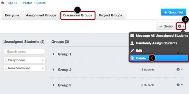 Delete Group