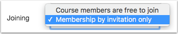 Membership by Invitation Only