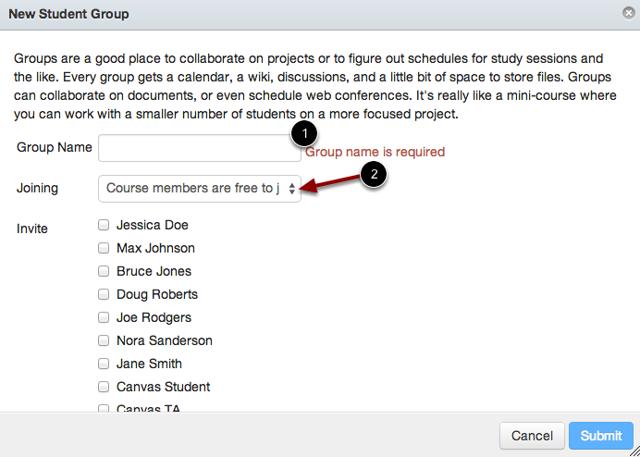 Choose Group Membership Option