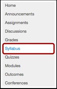Locate Syllabus Link