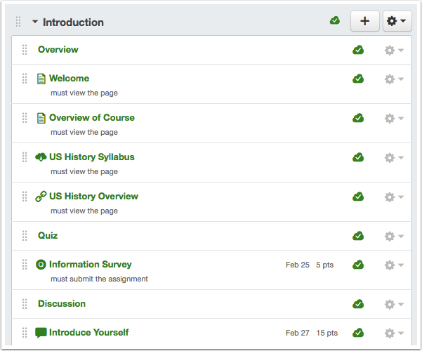 View Course Modules