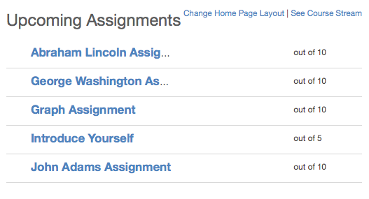 View the Assignment List