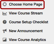 View Course Home Page