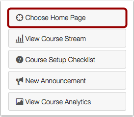 Choose Home Page