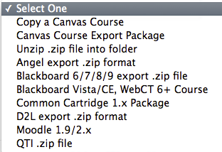 Choose Import Source