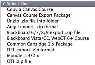 Choose Import Source