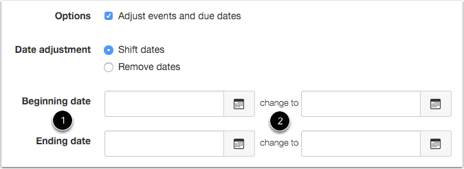 Adjust Events and Due Dates