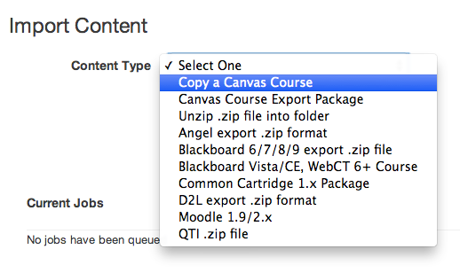 Import Content from Blackboard