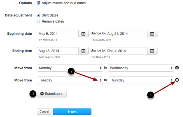 Shift Dates: Create Date Substitutions