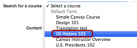 Select from the Drop-Down List