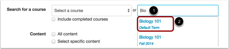 Search by Course Name