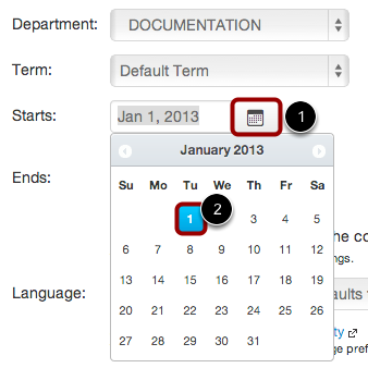 Edit Start and End Dates