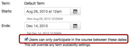Limit Course Availability