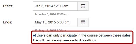 Limit User Participation