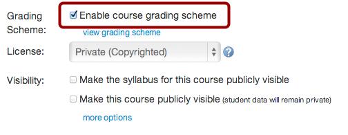 Enable Grading Scheme